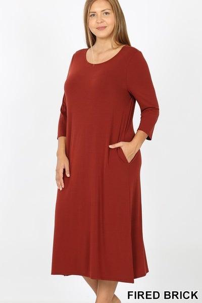 Mid Length Dress *3 Colors* *Final Sale*