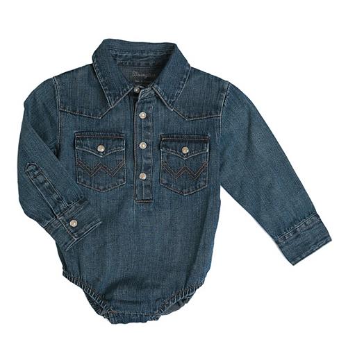 Wrangler Baby Long Sleeve Bodysuit