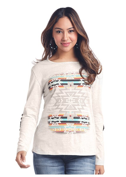 Aztec Oatmeal with Elbow Patch