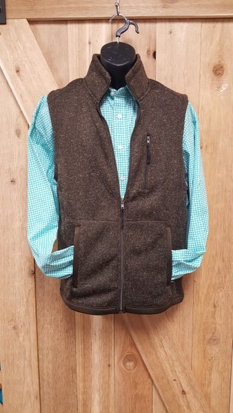 Powder River  Men's Heather Brown Vest