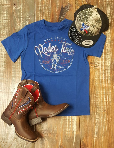 Dale Brisby Blue KIDS Rodeo Time Tee