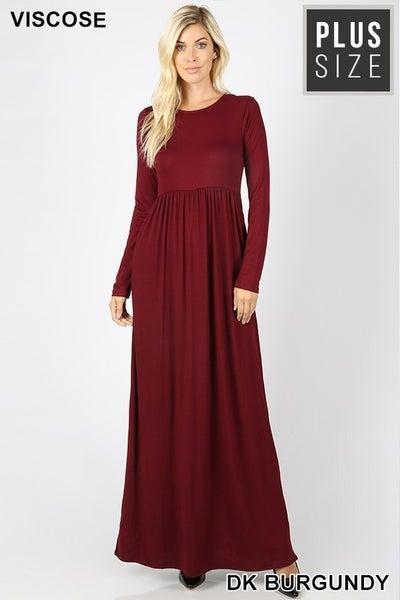 Long Sleeve Maxi Dress CURVY