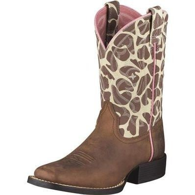 Ariat KIDS Giraffe Print Quickdraw Western Boot