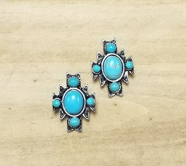 Cheeky's Turquoise Southwest Post Earrings
