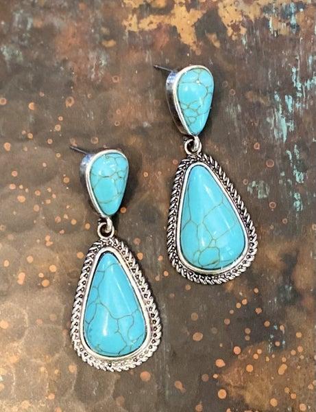 Tayla Turquoise Drop Earrings