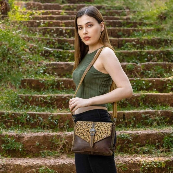 Livingston Leopard & Leather Purse
