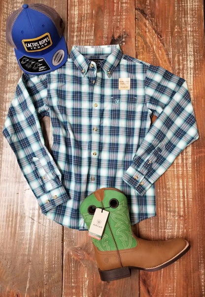 Ariat YOUTH Pro Series Roselle Classic Fit Shirt