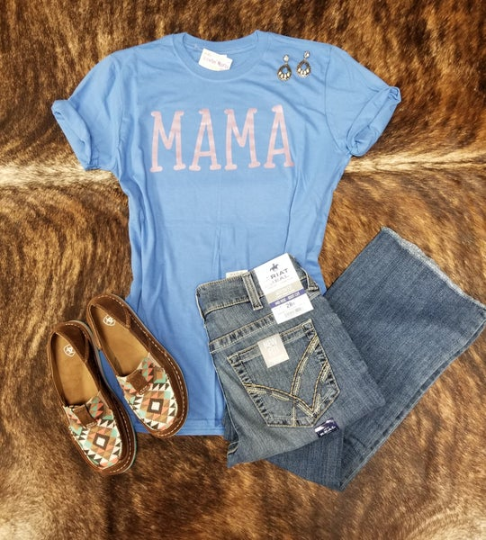 Rose Metallic Mama Tee