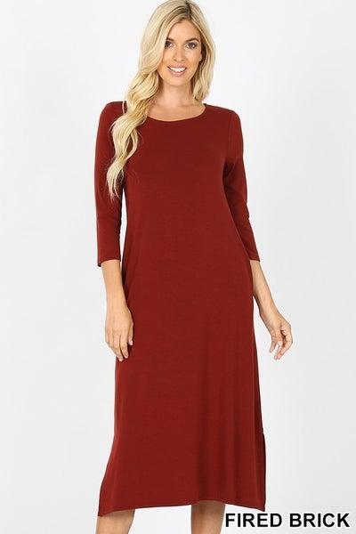 Mid Length Dress *3 Colors*