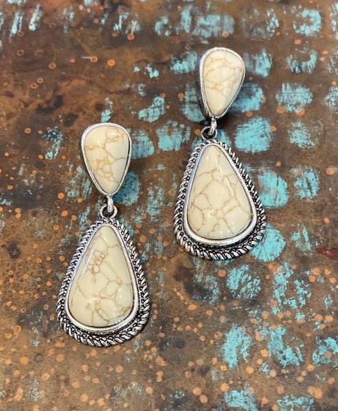 Tayla Ivory Drop Earrings