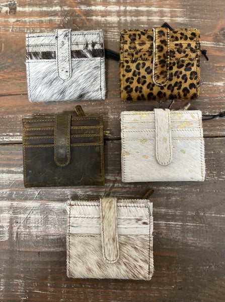 Assorted Hair on Hide Wallets