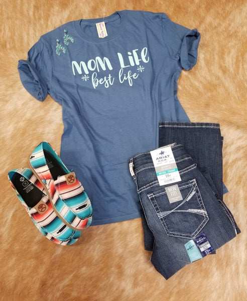 Mom Life Mystery Color Tee