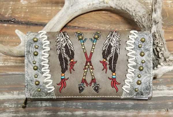 Montana West Aztec Collection Secretary Style Wallet *2 Colors*