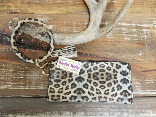 Leopard Bangle Bracelet with Wristlet