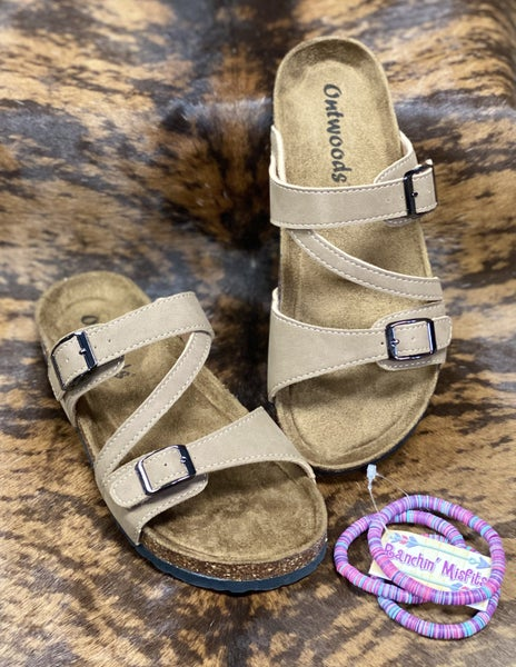 On The Patio Taupe Sandals