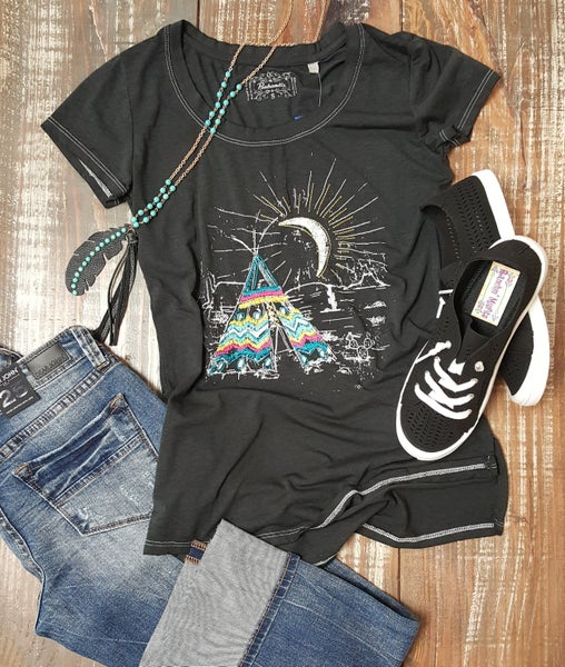 Rock & Roll Cowgirl Desert Tee pee *Final Sale*