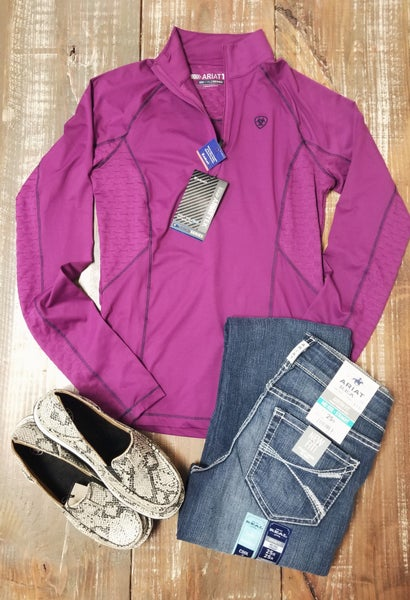 Ariat Women's Imperial Violet Lowell 2.0 1/4 Zip Baselayer