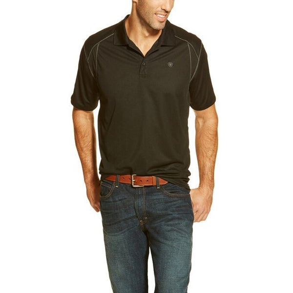 Ariat Men's Black Edge AC SS Polo
