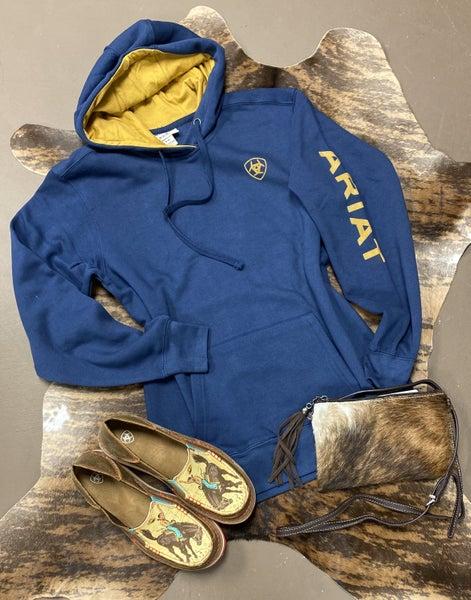 Ariat REAL Logo Hoodie Marine Blue