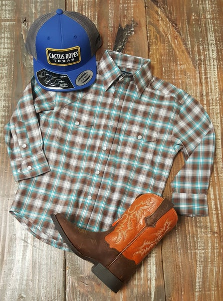Boys Roughstock Snap Plaid