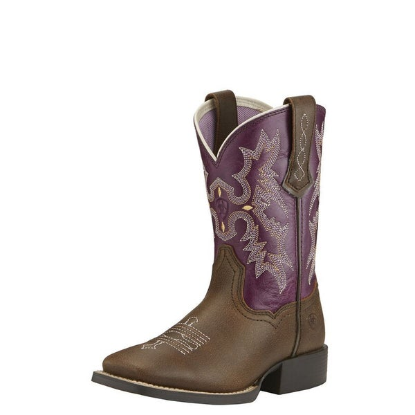 Ariat Youth Tombstone Vintage Bomber/Plum Boots