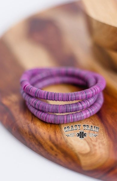 Cray Train Purple Time Stopper Bracelet Set