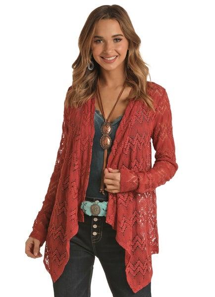 RRCG Cranberry Lace Kimono