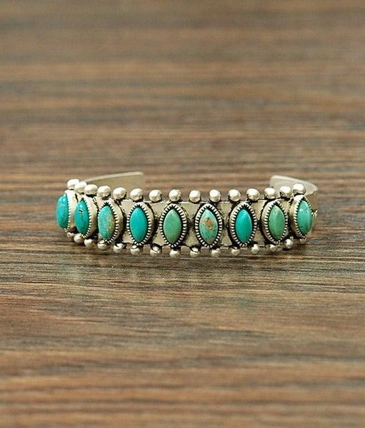 Temple Turquoise Cuff Bracelet