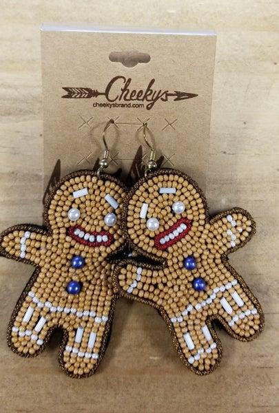 Cheeky's Gingerbread Cookie Earrings