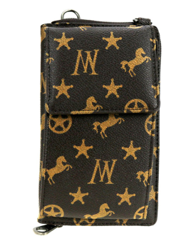 MW Signature Monogram Collection Phone Case Crossbody Wallet