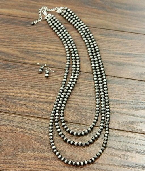 The Waco Three Strand Navajo Pearl Necklace