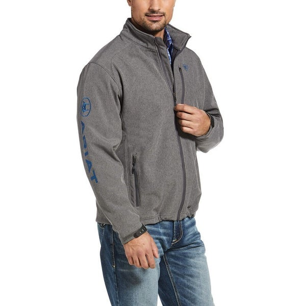 Ariat Men's 2.0 Logo Softshell Jacket Charcoal/Teal