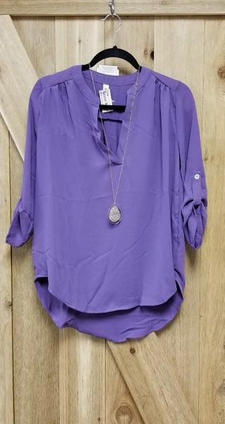 Lilac 3/4 Sleeve Top