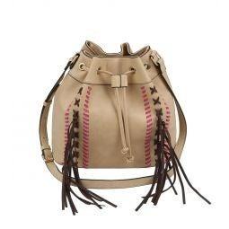 Tan Fringe Messenger Bag