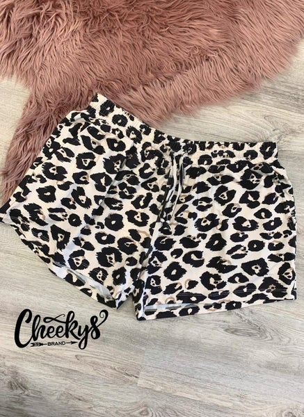 Cheeky's Leopard Print Lounge Shorts