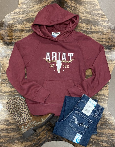 Ariat GIRLS REAL Vintage Fig Galaxy Hoodie