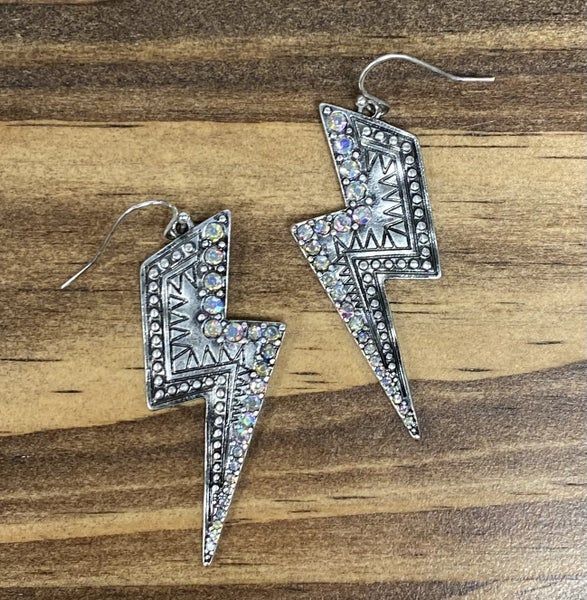 Cheeky's This Bolt Is On Point Silver Earrings