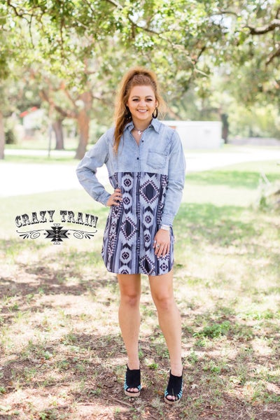 Crazy Train Buckin' Chute Dress