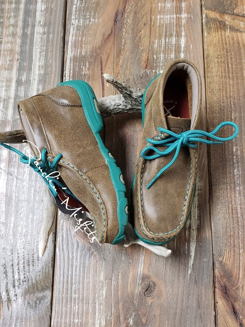 Twisted X Purple or Turquoise Kid's Driving Mocs