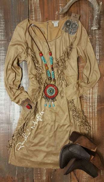 Ariat Suede Light Tan Woodland Dress