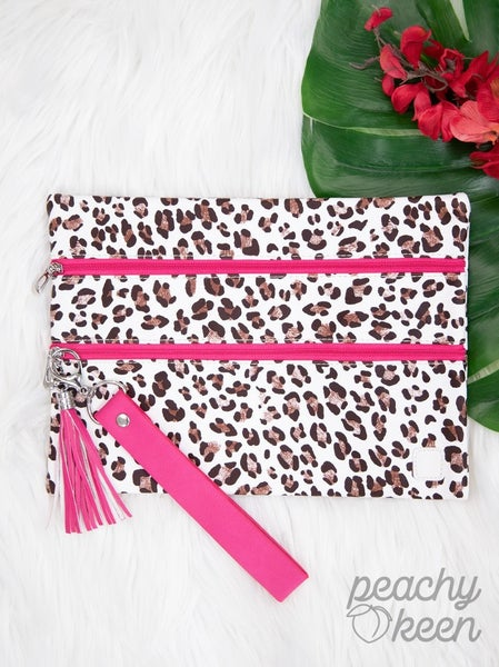 Snap Crackle Pink Leopard Versi Bag