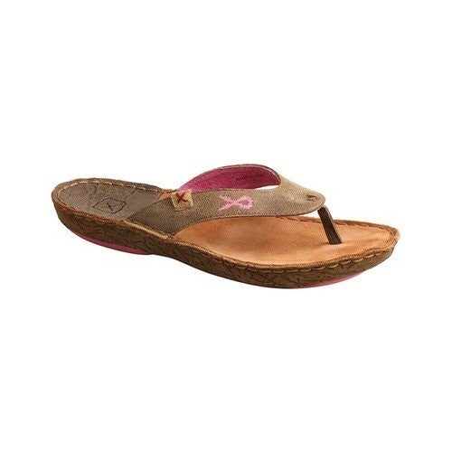 Twisted X Women's Leather Wrap Thong Sandal