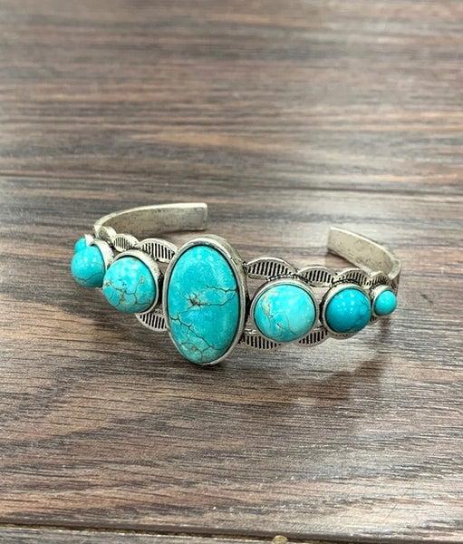 Broken Arrow Turquoise Cuff Bracelet