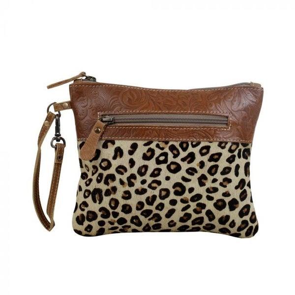 Leopard Oak Wristlet