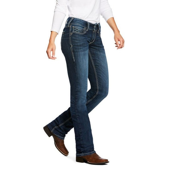 Ariat REAL Mid Rise Straight Leg Jean  Willow Dresden