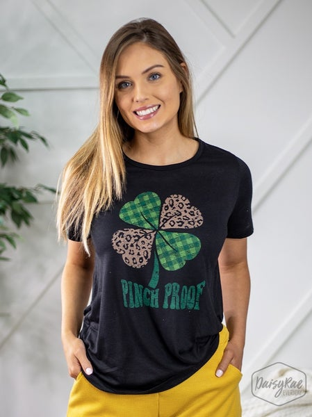 Pinch Proof Leopard Clover Tee