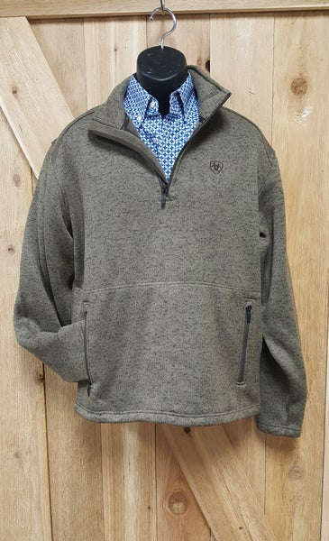 Ariat Men's Caldwell 1/4 Zip Fossil Sweater