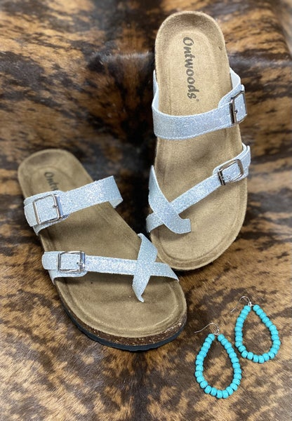 Flawless Silver Strap Sandals