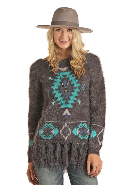 Powder River Charcoal Aztec Sweater