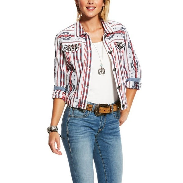 Ariat Shucker Aztec & Stripe Jacket